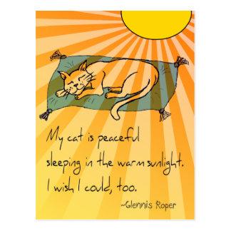 Haiku de la siesta del gato tarjetas postales