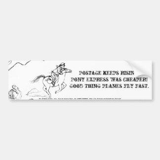 Haiku del aumento de la tarifa postal pegatina para auto