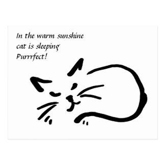 Haiku del gato tarjeta postal