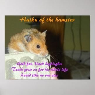 Haiku del hámster 1 poster