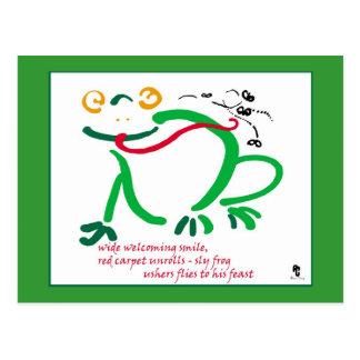 Haiku - el banquete de la rana tarjeta postal