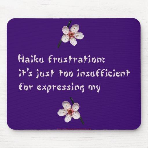 Haiku Frustration Mouse Pad