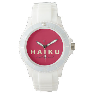 Haiku Is All We Need Mod Silicone Sport Watch