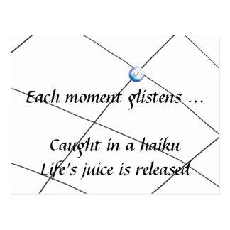 Haiku - jugo de la vida postales