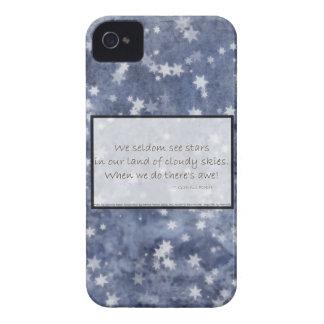 Haiku nublado de la estrella del cielo azul Case-Mate iPhone 4 coberturas