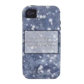 Haiku nublado de la estrella del cielo azul iPhone 4/4S carcasa
