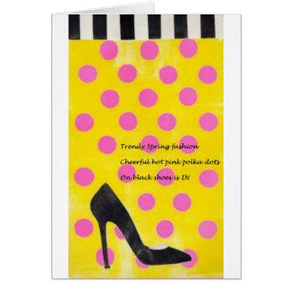 Haiku on A Shoe In, too Blank Card