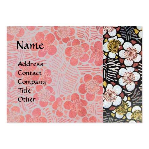 HAIKU ,pink white black grey Business Card