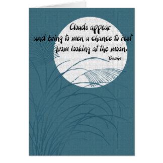 Haiku poetry card