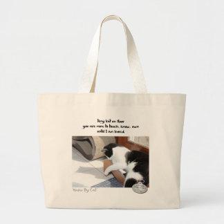 Haiku por Cat™: Pedazo Bolsa Tela Grande