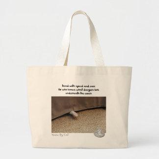 Haiku por Cat™: Peligros Bolsa Tela Grande