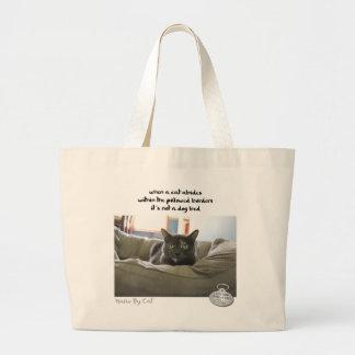Haiku por Cat™: Respete Bolsa Tela Grande