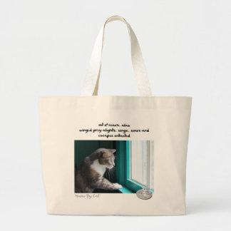 Haiku por Cat™: Sin probar Bolsa Tela Grande