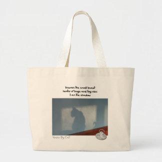 Haiku por Cat™: Sombra Bolsa Tela Grande