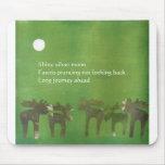 Haiku Prancing Deers Mouse Pad