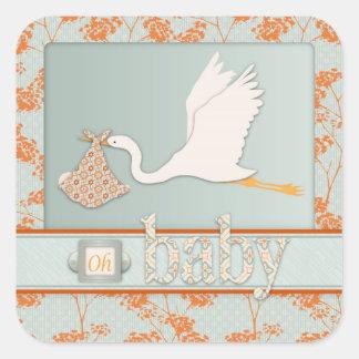 Haiku Square Sticker 2B