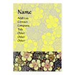 HAIKU ,yellow pink black white Business Card Templates