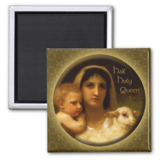 Hail Holy Queen 2 Inch Square Magnet