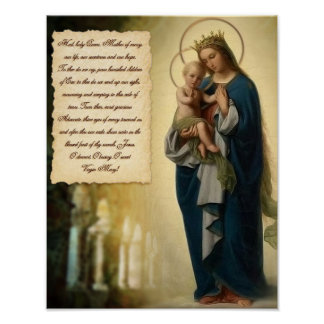 HAIL HOLY QUEEN PRAYER POSTER