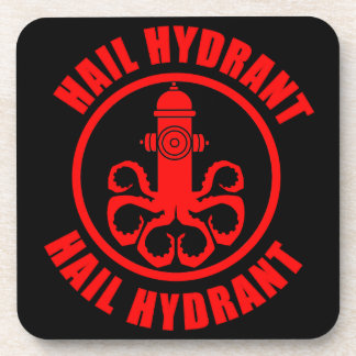 Hail Hydrant Drink Coaster
