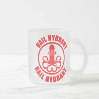 Hail Hydrant Frosted Glass Coffee Mug