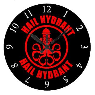 Hail Hydrant Large Clock