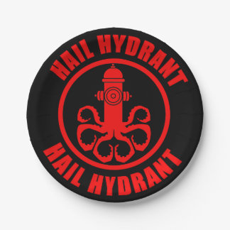 Hail Hydrant Paper Plate