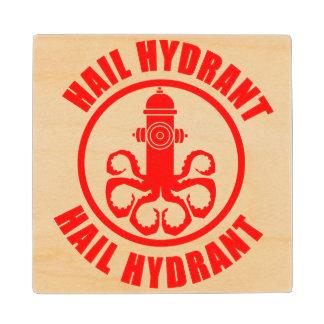 Hail Hydrant Wooden Coaster