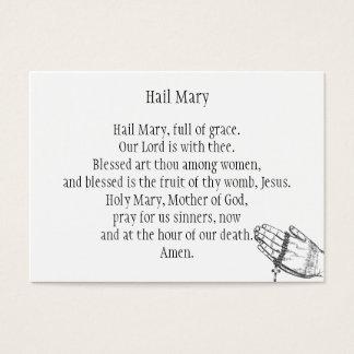 Hail Mary Business Card