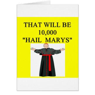 hail mary catholi onfession joke card