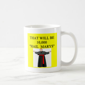hail mary catholi onfession joke coffee mug