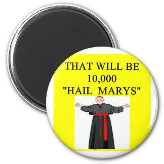 hail mary catholi onfession joke fridge magnets