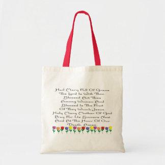 Hail Mary Catholic Prayer Gifts & Cards Tote Bag