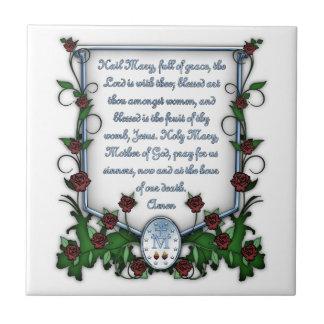 Hail Mary Ceramic Tile