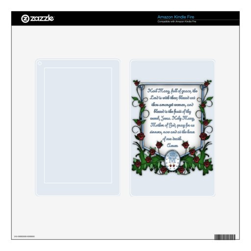 Hail Mary Decal For Kindle Fire