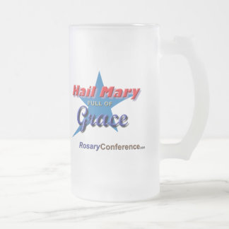 Hail Mary Frosted Glass Mug