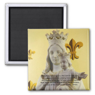 Hail Mary, full of grace 2 Inch Square Magnet