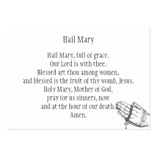 Hail Mary Large Business Card