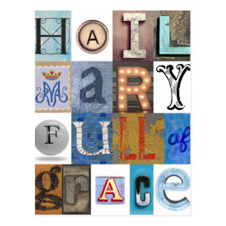 Hail Mary Letters Postcard