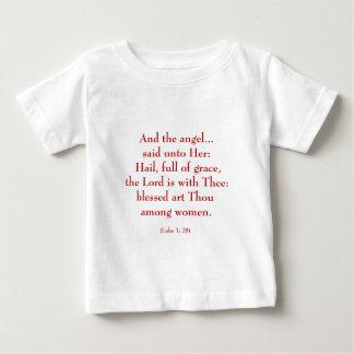 """Hail Mary """"Luke 1:28"""" Baby T-Shirt"""