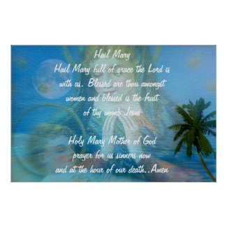 HAIL MARY PRAYER BEAUTIFUL POSTER
