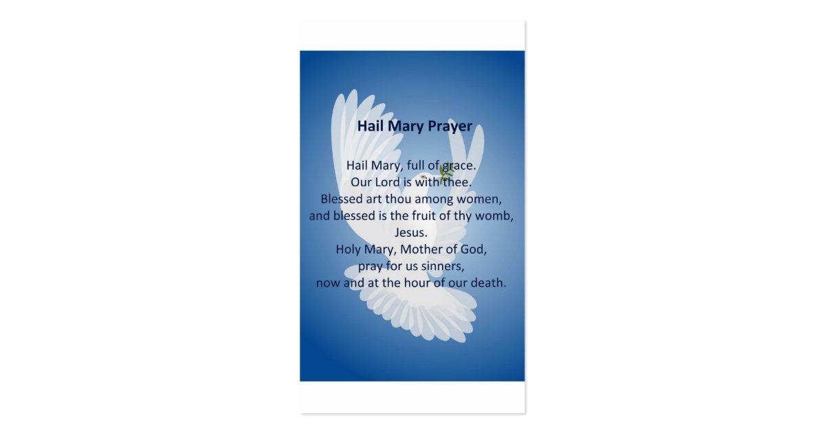 Hail Mary Prayer Business Cards Zazzle