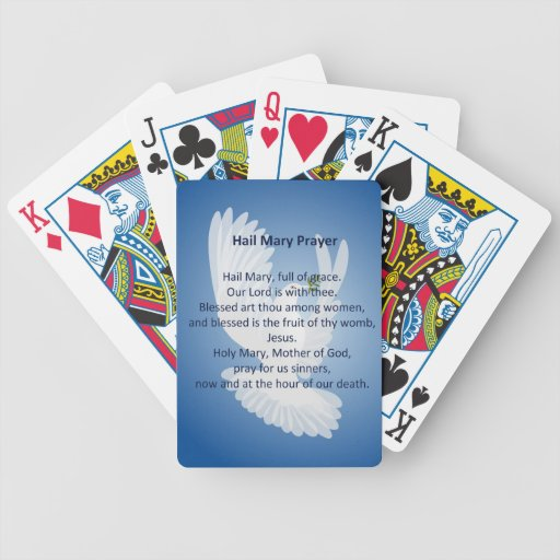 Hail Mary Prayer Deck of Cards Bicycle Playing Cards