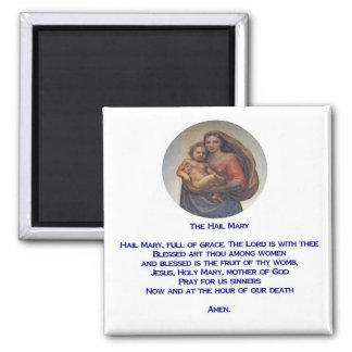 Hail Mary Prayer Magnet