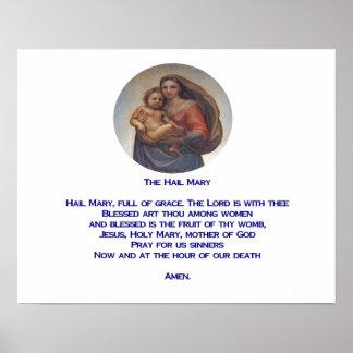 Hail Mary prayer Poster