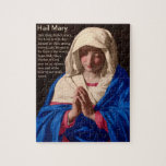 "Hail Mary Prayer Puzzle<br><div class=""desc"">Assemble this Hail Mary Prayer Puzzle created from Sassoferrato&#39;s The Virgin in Prayer.</div>"