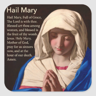 Hail Mary Prayer Sticker