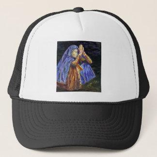 Hail Mary Rosary painting Art Trucker Hat