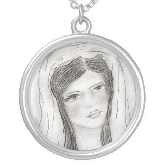 Hail Mary Round Pendant Necklace
