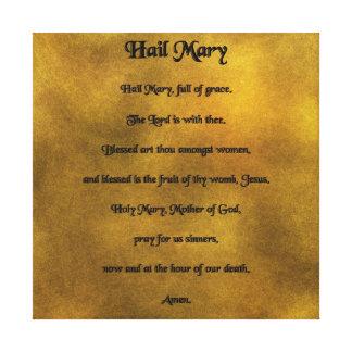 Hail Mary Warpped Canvas